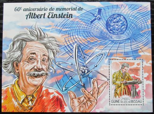 Poštovní známka Guinea-Bissau 2015 Albert Einstein Mi# Block 1334 Kat 9€