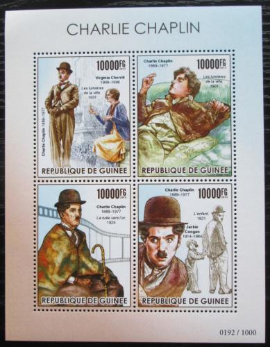 Poštovní známky Guinea 2015 Charlie Chaplin Mi# 11328-31 Kat 16€