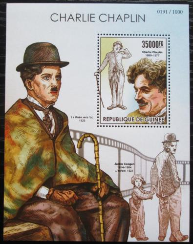 Poštovní známka Guinea 2015 Charlie Chaplin Mi# Block 2562 Kat 14€