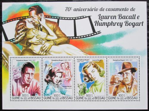 Poštovní známky Guinea-Bissau 2015 Lauren Bacall a Humphrey Bogart Mi# 7654-57 Kat 14€