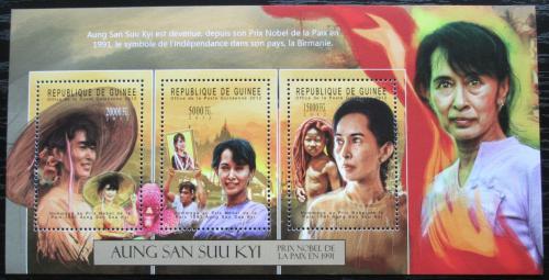 Poštovní známky Guinea 2012 Aung San Suu Kyi, politièka Mi# 9352-54 Kat 16€