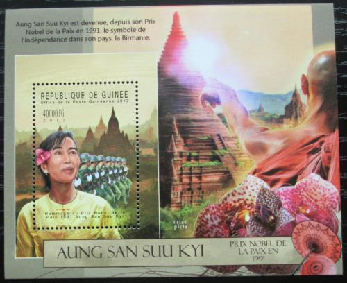 Poštovní známka Guinea 2012 Aung San Suu Kyi, politièka Mi# Block 2127 Kat 16€