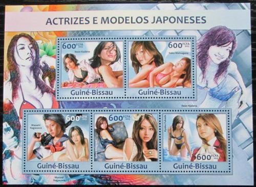 Poštovní známky Guinea-Bissau 2013 Japonské modelky Mi# 6566-70 Kat 12€