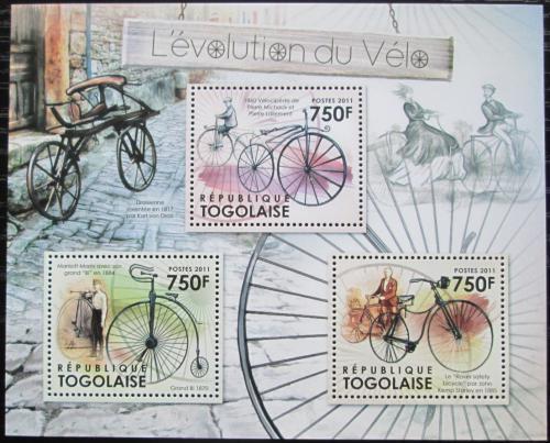 Poštovní známky Togo 2012 Historie cyklistiky Mi# 4341-44 Kat 9€