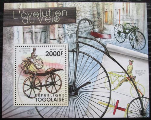 Poštovní známka Togo 2012 Historie cyklistiky Mi# Block 682 Kat 8€