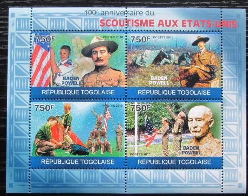 Poštovní známky Togo 2010 Ameriètí skauti, Baden-Powell Mi# 3564-67 Kat 12€