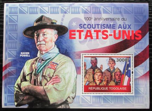 Poštovní známka Togo 2010 Ameriètí skauti, Baden-Powell Mi# Block 524 Kat 12€