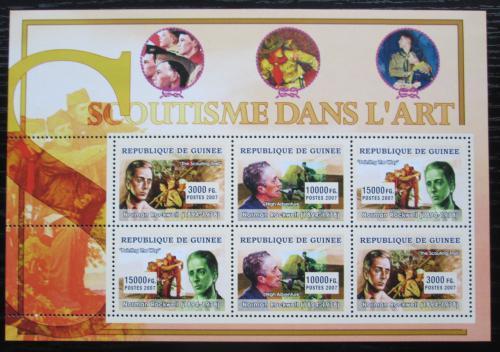 Poštovní známky Guinea 2007 Skauti a umìní, Norman Rockwell Mi# 4809-11 Kat 15€