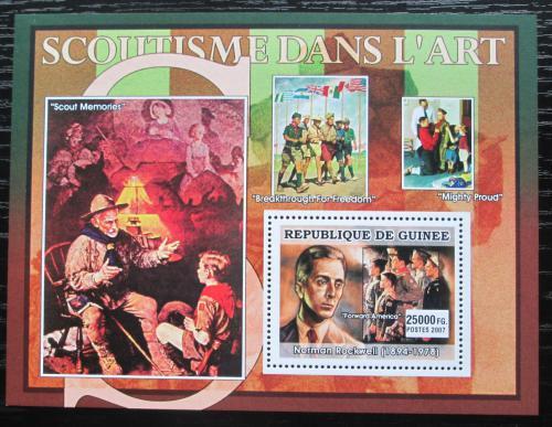 Poštovní známka Guinea 2007 Skauti a umìní, Norman Rockwell Mi# Block 1251