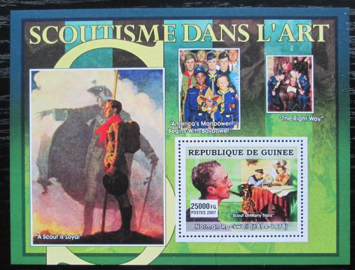 Poštovní známka Guinea 2007 Skauti a umìní, Norman Rockwell Mi# Block 1252