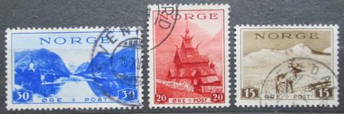 Poštovní známky Norsko 1938 Turistické zajímavosti Mi# 195-97