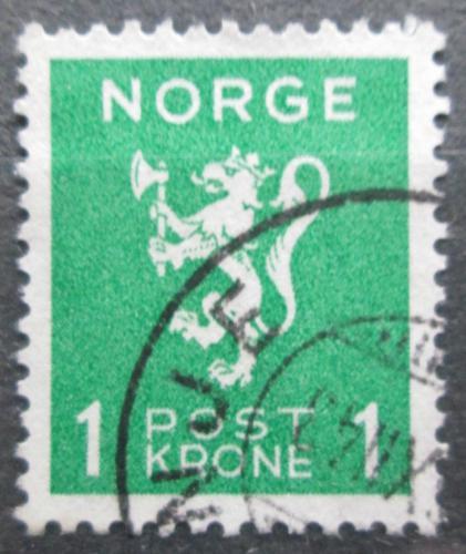 Poštovní známka Norsko 1940 Státní znak Mi# 207