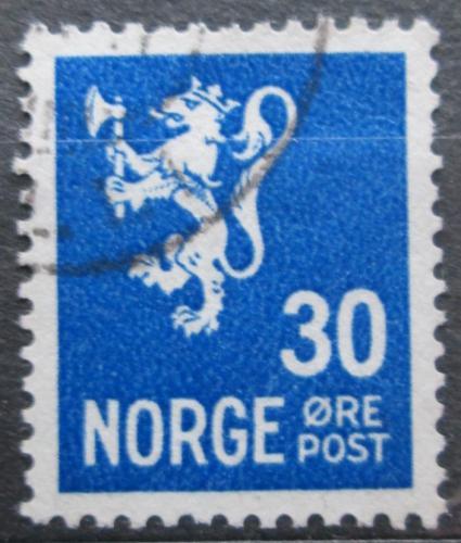 Poštovní známka Norsko 1940 Státní znak Mi# 226