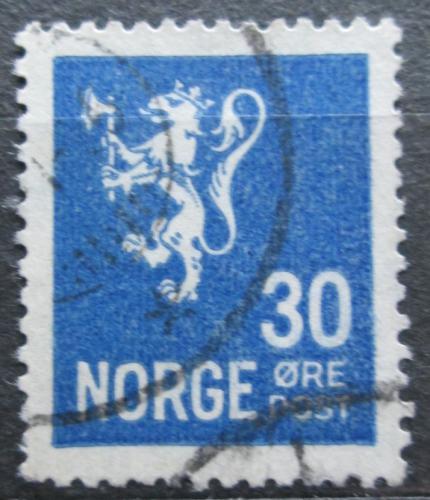 Poštovní známka Norsko 1928 Státní znak Mi# 127 A