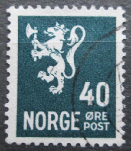 Poštovní známka Norsko 1927 Státní znak Mi# 130 A