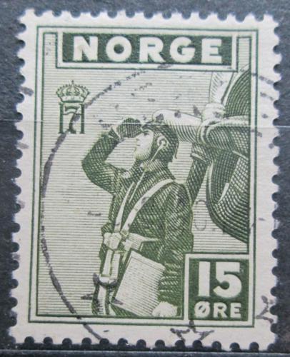 Poštovní známka Norsko 1943 Letec Mi# 279