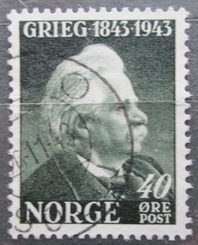 Poštovní známka Norsko 1943 Edvard Grieg, skladatel Mi# 289