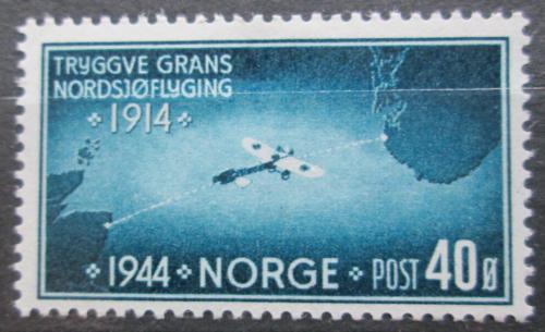Poštovní známka Norsko 1944 Letadlo nad Severním moøem Mi# 298