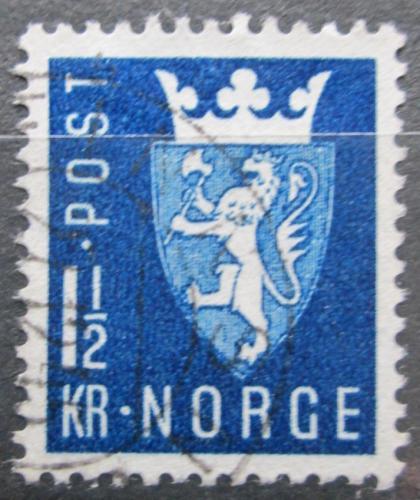 Poštovní známka Norsko 1945 Státní znak Mi# 303
