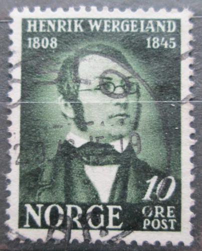 Poštovní známka Norsko 1945 Henrik Wergeland, básník Mi# 304
