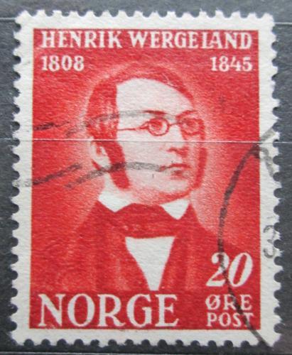 Poštovní známka Norsko 1945 Henrik Wergeland, básník Mi# 306