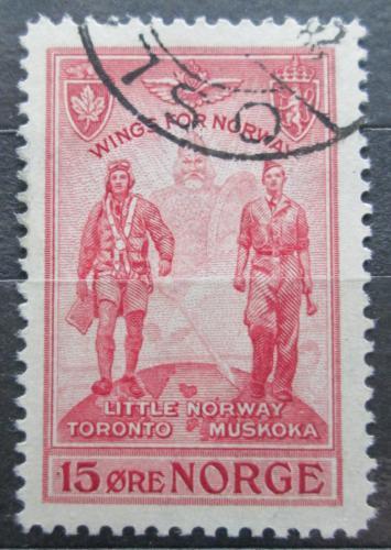 Poštovní známka Norsko 1946 Letci Mi# 314