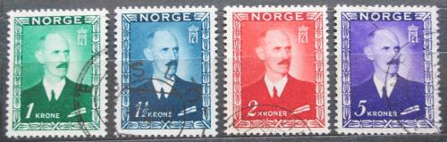 Poštovní známky Norsko 1946 Král Haakon VII. Mi# 315-18