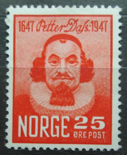 Poštovní známka Norsko 1947 Peter Dass, básník Mi# 334