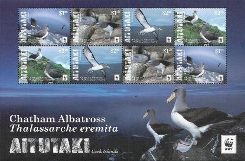 Poštovní známky Aitutaki 2016 Albatros chathamský, WWF Mi# 966-69 Bogen Kat 19€