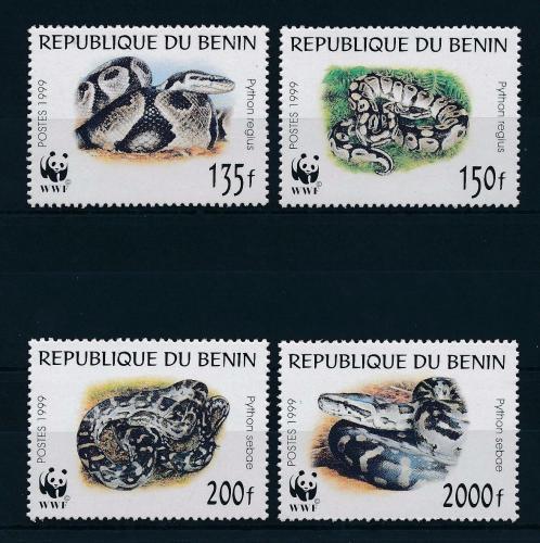 Poštovní známky Benin 1999 Krajty, WWF Mi# 1159-62 Kat 12€