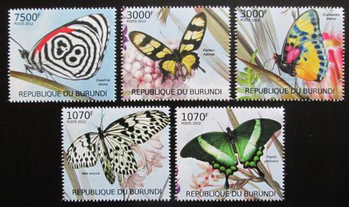 Poštovní známky Burundi 2012 Motýli Mi# 2540-44 Kat 10€