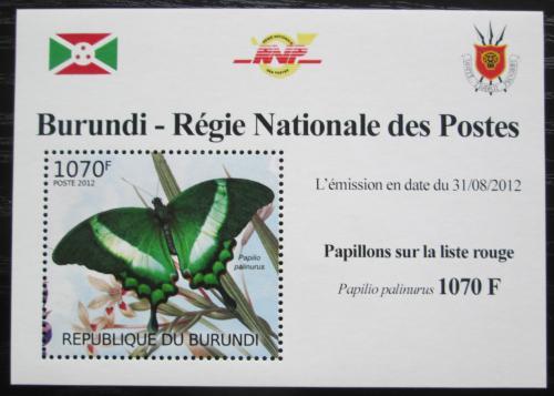 Poštovní známka Burundi 2012 Motýli DELUXE Mi# 2540 Block
