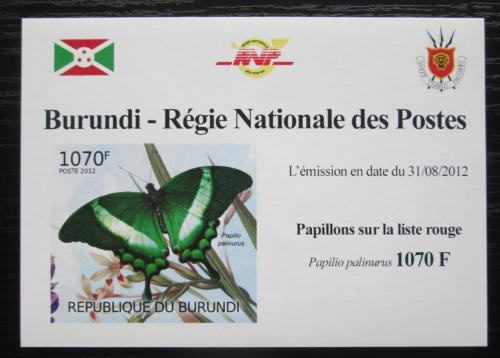 Poštovní známka Burundi 2012 Motýli neperf. Mi# 2540 B Block
