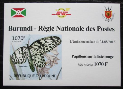 Poštovní známka Burundi 2012 Motýli neperf. Mi# 2541 B Block