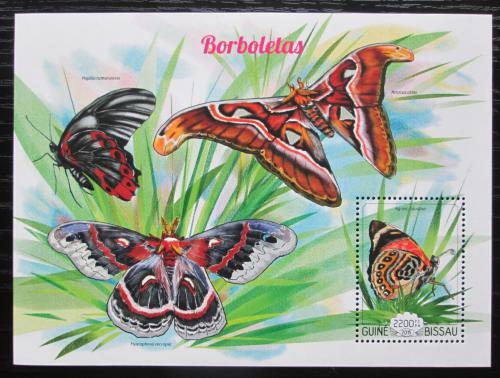 Poštovní známka Guinea-Bissau 2015 Motýli Mi# Block 1336 Kat 8.50€