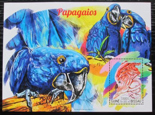 Poštovní známka Guinea-Bissau 2015 Papoušci Mi# Block 1355 Kat 13€