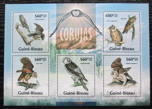 Poštovní známky Guinea-Bissau 2013 Sovy Mi# 6682-86 Kat 11€