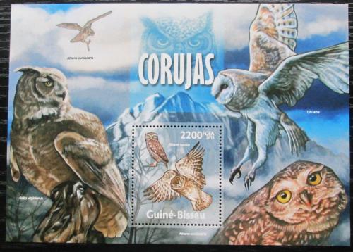 Poštovní známka Guinea-Bissau 2013 Sovy Mi# Block 1173 Kat 9€