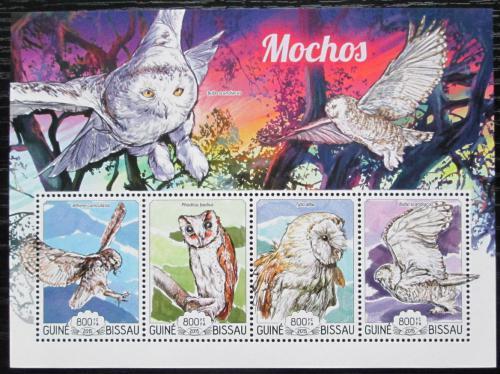 Poštovní známky Guinea-Bissau 2015 Sovy Mi# 7692-95 Kat 13€