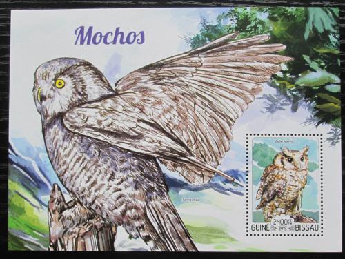 Poštovní známka Guinea-Bissau 2015 Sovy Mi# Block 1339 Kat 9€