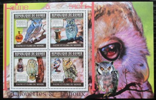 Poštovní známky Guinea 2011 Sovy Mi# 8309-12 Kat 12€