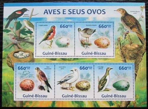 Poštovní známky Guinea-Bissau 2013 Ptáci a jejich vejce Mi# 6608-12 Kat 13€