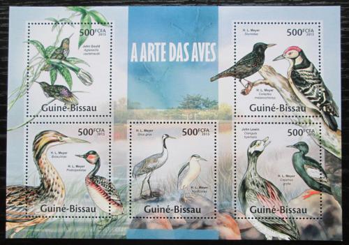 Poštovní známky Guinea-Bissau 2013 Ptáci Mi# 6670-74 Kat 10€