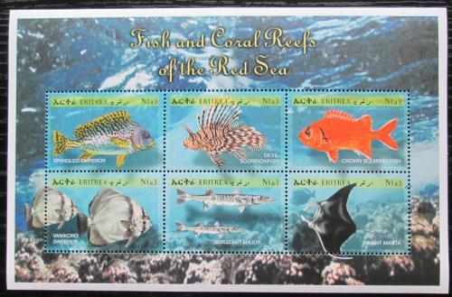 Poštovní známky Eritrea 2000 Ryby z Rudého moøe Mi# 212-17 Kat 10€