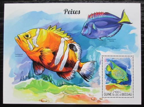 Poštovní známka Guinea-Bissau 2015 Ryby Mi# Block 1343 Kat 9€