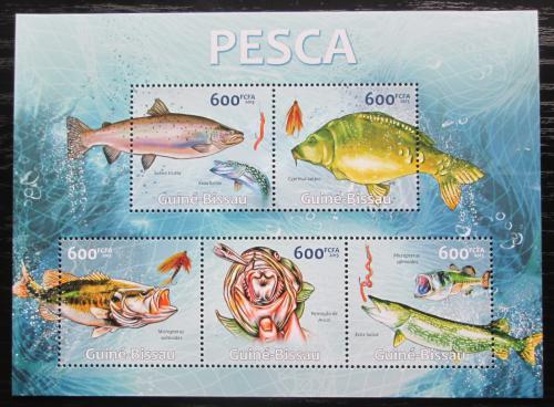 Poštovní známky Guinea-Bissau 2013 Sladkovodní ryby Mi# 6578-82 Kat 12€