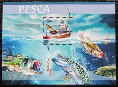 Poštovní známka Guinea-Bissau 2013 Sladkovodní ryby Mi# Block 1152 Kat 11€
