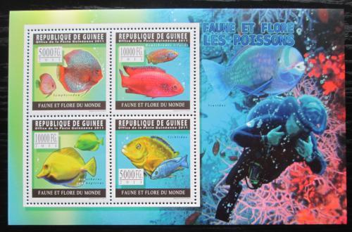 Poštovní známky Guinea 2011 Ryby Mi# 8294-97 Kat 12€