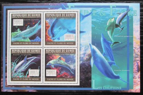 Poštovní známky Guinea 2011 Delfíni Mi# 8324-27 Kat 12€