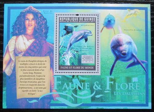 Poštovní známka Guinea 2011 Delfíni Mi# Block 1946 Kat 18€